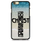 Letters on the Beach Pattern TPU Back Case for IPHONE 6 / 6S - Black + Multicolor