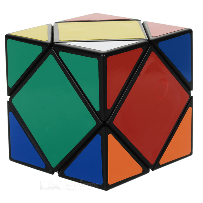 Educational Rubik's Cube Magic IQ Cube Toy - Black + Multi-Color
