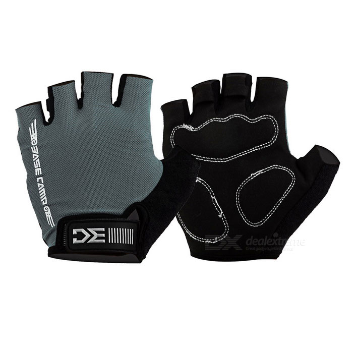 Basecamp BC-204 Anti-Shock Breathable Half-Finger Gloves - Grey (L)