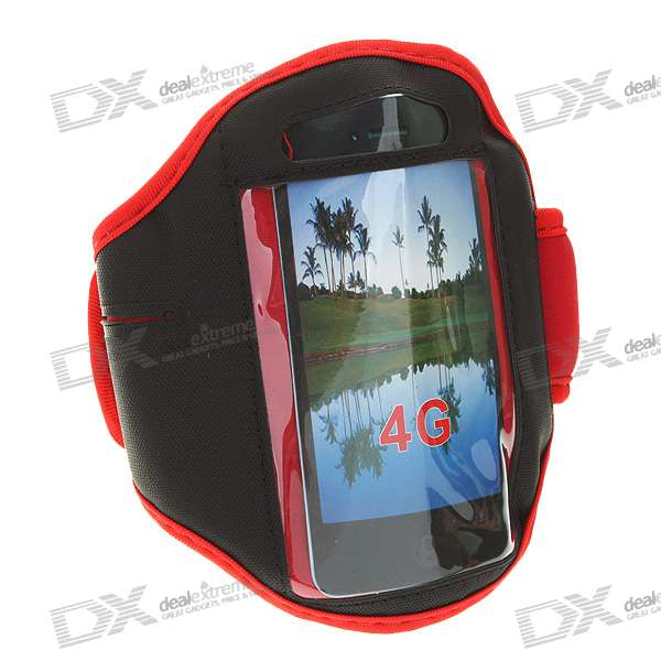 Sport Armband for iPhone 4 - Red + Black
