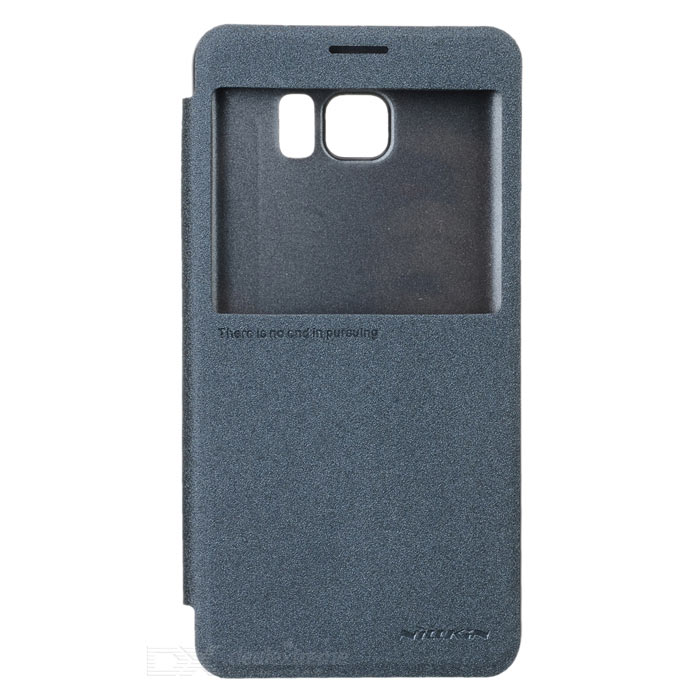 NILLKIN Flip Open PU + PC Case for Samsung Galaxy Note 5 - Black