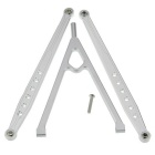 RC Silver Aluminum Front Chassis Links Tree AXIAL 4WD 1:10 SCX10 Upgrade Part