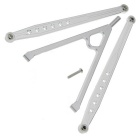 RC Aluminum Front Chassis Enlaces Tree SCX10 Upgrade Part - Plata