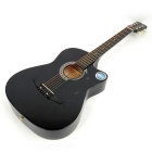 "CSP-38C 38"" Basswood Cutaway Acoustic Guitar with Bag Strap Pick - Black"
