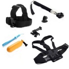 6-in-1 Sports Camera Accessories Kit for GoPro, SJCam, Xiaoyi - Black