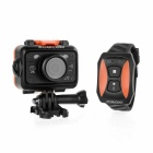 SOOCOO S70 HD 2K Sports Camera w/ Smart Watch Remote, Wi-Fi Realtime Sharing, SOS