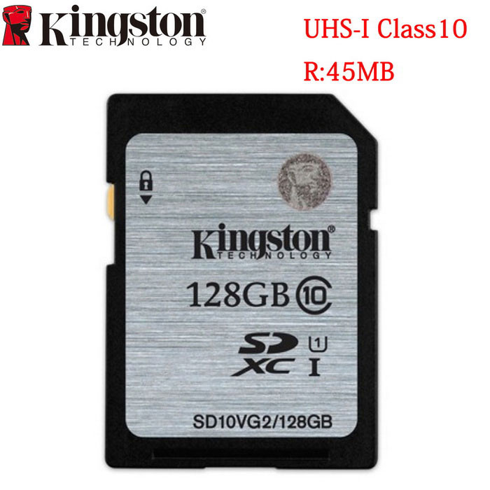 Kingston Digital 128GB SDHX Class 10 UHS-I 45R/10W Flash Memory Card