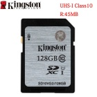 Kingston Digital 128GB SDHX Class 10 UHS-I 45R/10W Flash Memory Card (SD10VG2/128GB)