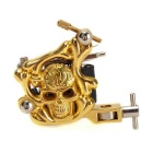 K300 Metal 10 Warps Coils 7000-9000 R/Minute Skull Style Tattoo Machine - Golden