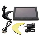 "9.7"" TFT LCD HD carro displayer monitor w / BNC / AV / HDMI / VGA - preto"
