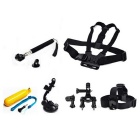 7-in-1 Sports Camera Accessories Kit for GoPro Hero 4/3/3+/SJ4000/SJ5000/SJCam/Xiaoyi - Black