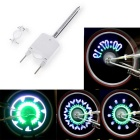 Cycling Bike Wheel Spoke Light White + Green + Blue - White