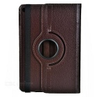 Litchi Pattern Protective PU Smart Case for IPAD MINI 4 - Brown