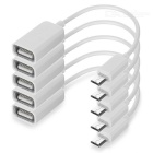 Portable Micro USB to USB OTG Adapter Cables - White (5 PCS / 16cm)