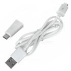USB 3.1 Type C Male to Micro USB Female Adapter + Micro USB Cable Set - White