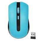24GHz wireless 1000 ~ 1600DPI mouse w / receptor USB 2.0 - azul + preto (1 x aaa)