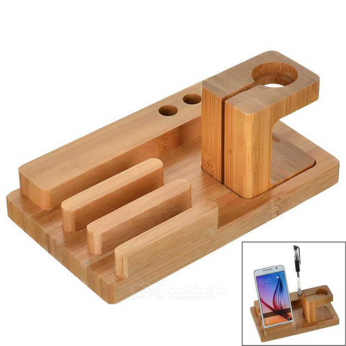 S-what Wooden Charging Holder for APPLE Watch, IPHONE - Wood Color