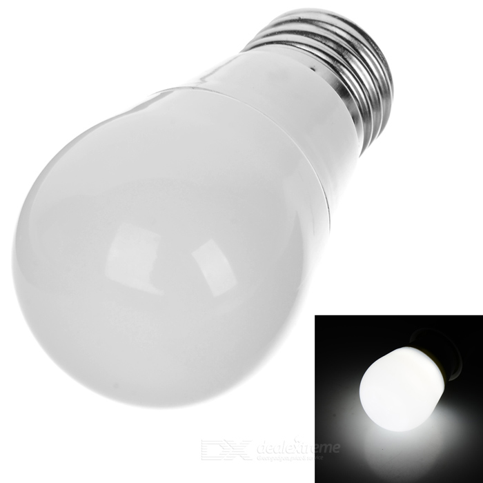 3W E27 Dimmable Cool White LED Bulb Lamp 6-SMD - White + Silver Grey