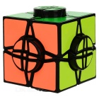 The Wheel of Time Style Irregular Shaped Cube - Black + Multicolor