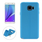ENKAY Leather Texture Protective TPU Back Case Cover for Samsung Galaxy Note 5 N9200 - Blue