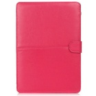 "ASLING ASL-903 Protective PU Leather Flip Open Case for MACBOOK 12"" - Deep Pink"
