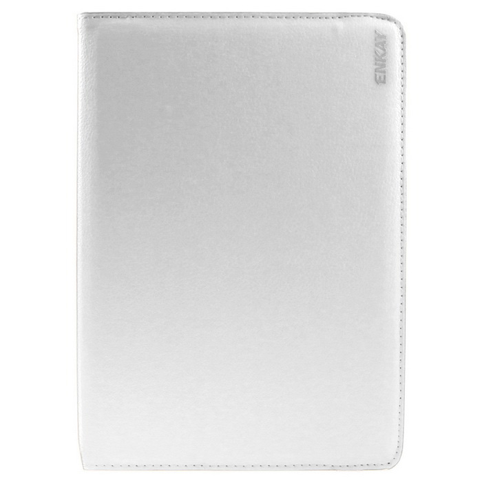 ENKAY PU Case w/ 360' Rotation Stand for Samsung Tab S2 T815 - White