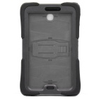 Shockproof Waterproof Silicone Case Cover w/ Stand for Samsung P3200 - Black