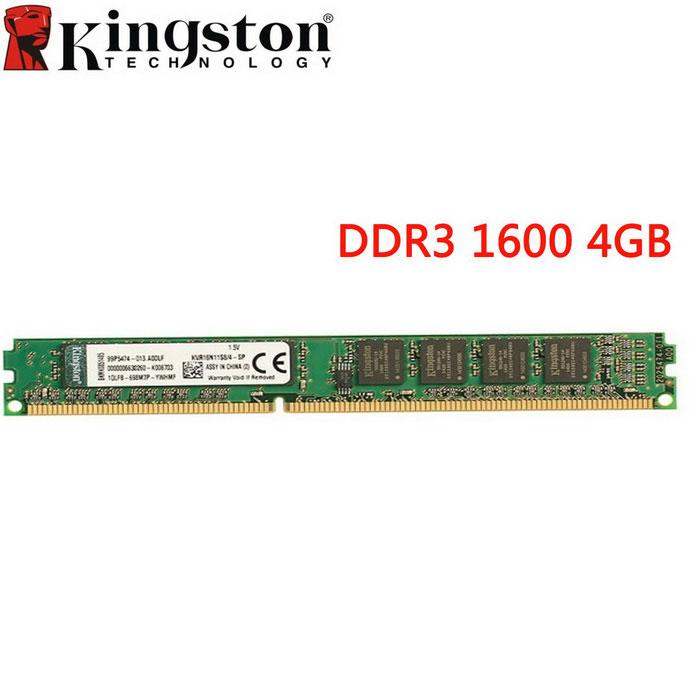 Kingston valueram 4GB 1600MHz PC3-12800 memoria de escritorio DDR3 - verde
