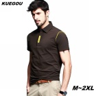 KUEGOU Men's hit color short-sleeve Polo Shirt