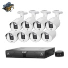 COTIER N8B3M / Kit Windows 7 Android 4.0 Linux 8CH 1HE HD NVR + 720P ONVIF IP-Kamera - White + Black