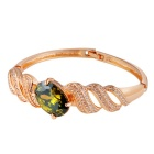 Xinguang Bright Green Crystal Bracelet - Golden