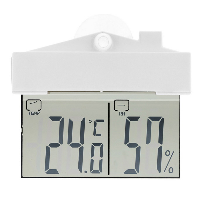 Mini-Indoor-Outdoor-Digital-Thermometer / Hygrometer -9 ~ 50 ° C - weiß