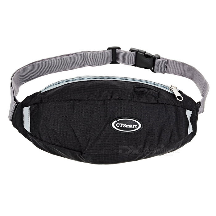 CTSmart Multifunction Waist Bag with Reflective Strip - Black