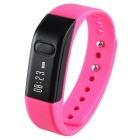 "I5S 0.49"" OLED Bluetooth V4.0 Smart Watch Wristband Bracelet w/ Sports / Sleep Tracking - Pink"