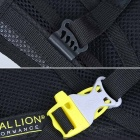 LOCAL LION Dacron Shoulders Backpack w/ Water Bag Compartment - Grey