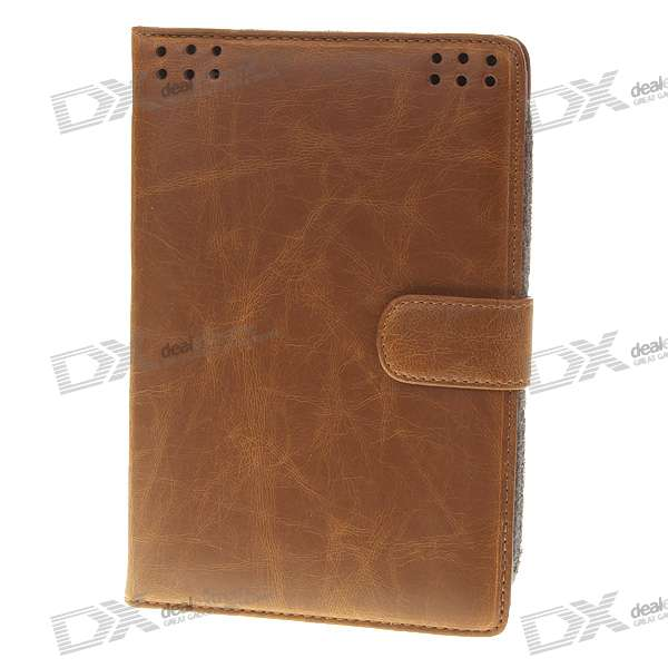 "Protective PU Leather Carrying Case for 7"" Tablet (Brown)"