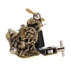 K200 Skull Style Casting 10-Warp Coils 7000-9000 RPM High Stability Tattoo Machine - Bronze