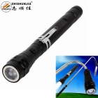 ZHISHUNJIA B62 Pickup Strong Magnetic Iron Flexible Metal Tube Hose White LED Flashlight - Black