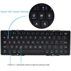 OLDSHARK teclado bluetooth dobrável para ios, android, windows -silver