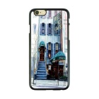 Slow Life European Architectural Style TPU Case for IPHONE 6 / 6S - Blue + White