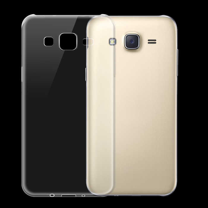 Ultra-thin Protective TPU Back Cover Case for Samsung Galaxy J5 - Transparent