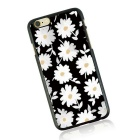Chrysanthemum Pattern TPU Back Case for IPHONE 6/6S - Black + White