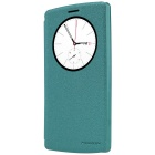NILLKIN Protective PU Leather + PC Case w/ Auto Sleep / View Window for LG G4 Beat - Blue