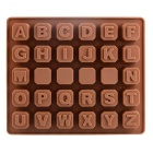 JSC163 26-Slot Letters Shaped Dessert Cake Chocolate Mold Kitchen Tool - Brown