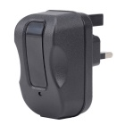 Dual USB 1A + 2.1A UK Plug Power Charger Adapter - Black