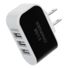 Jtron 3-USB 3.1A 12V Charger Head - Black