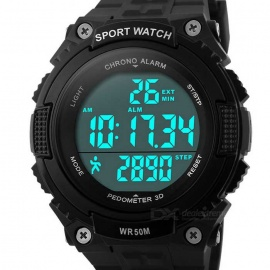 SKMEI 1112 50m Waterproof Outdoor Sports Wrist Watch - Black (1*CR2032)