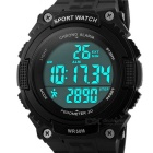 SKMEI 50m Waterproof Outdoor Sports Wrist Watch - Black (1*CR2032)