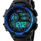 SKMEI 50m Waterproof Taiwan Chipset Multi-functional Student Sports Watch - Black + Blue