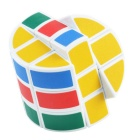 Cylinder Style 3*3*3 Magic Cube Toy - Multi-Color (Skill Level 3)